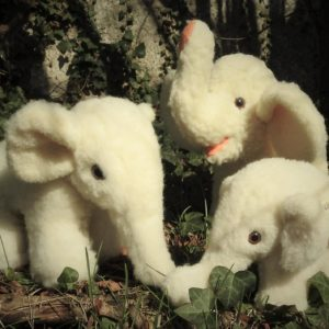 Schafwoll-Kuscheltier Elefanten
