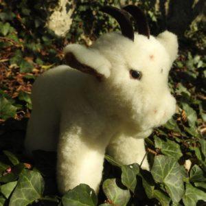 Schafwoll-Kuscheltier Ziege