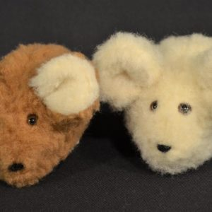 Schafwoll-Kuscheltier Maus