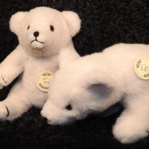 Schafwoll-Kuscheltier Eisbären