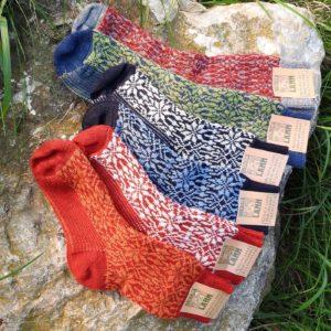 Schafwoll-Socken mit Sternenmuster