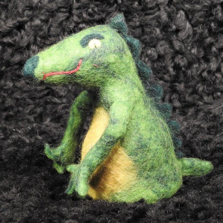 Filz-Eierwärmer Krokodil